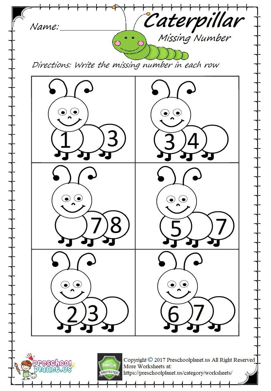 Missing Number Worksheet for Kindergarten Missing Number Worksheet Pdf Easy and Printable