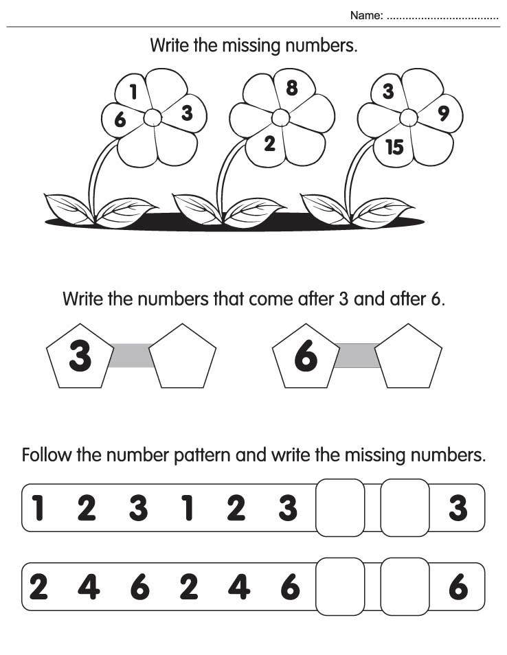Missing Number Worksheet for Kindergarten Write the Missing Numbers