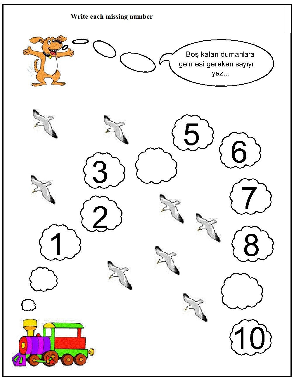 Missing Number Worksheets Kindergarten Missing Number Worksheet for Kids 14