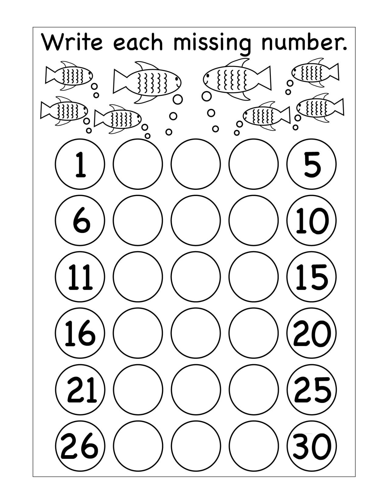 Missing Number Worksheets Kindergarten Missing Numbers Archives