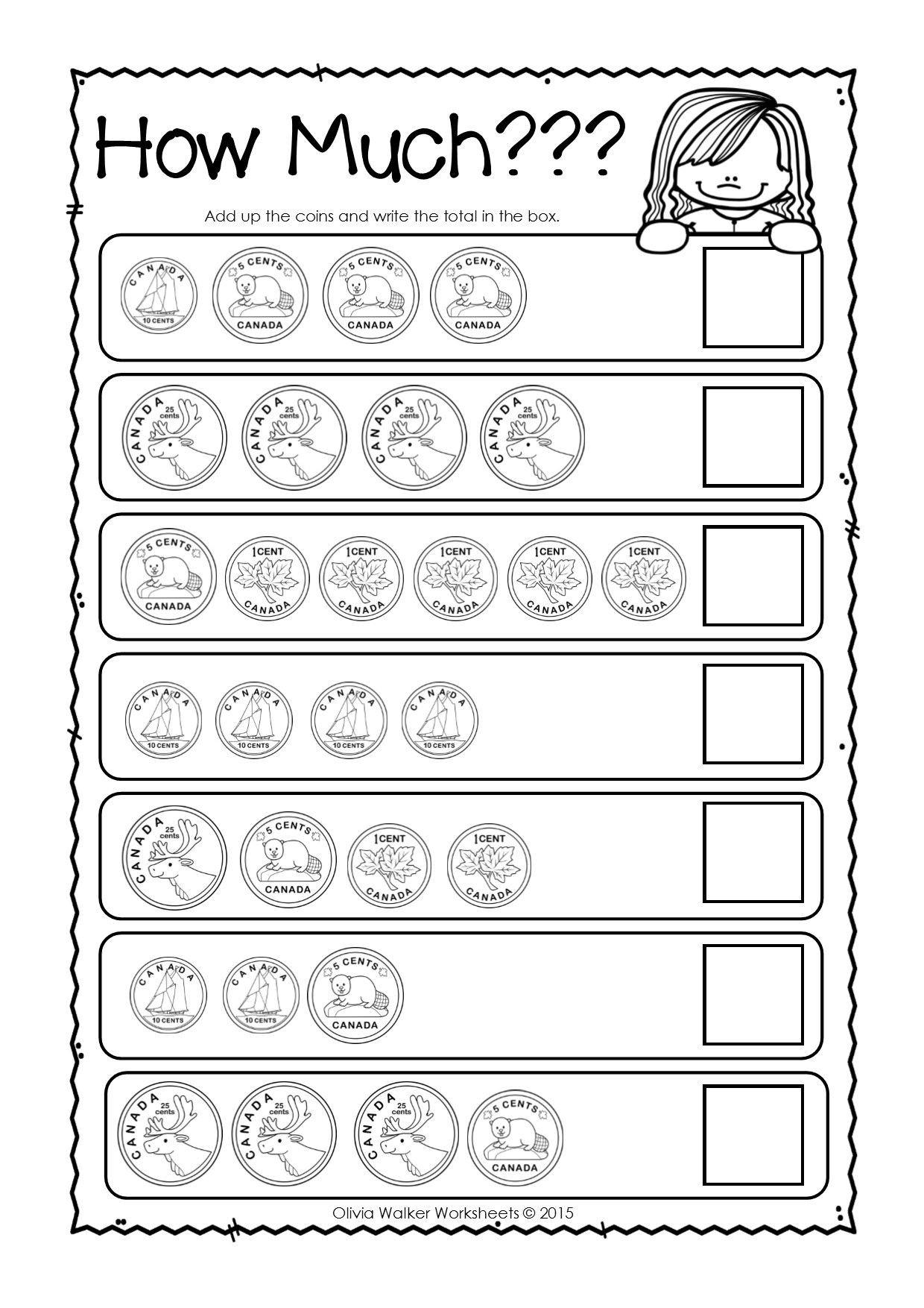Money Worksheets 3rd Grade Canadian Money Worksheets Printables