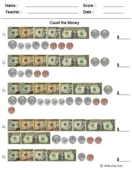 Money Worksheets 3rd Grade Pin On Homeschool Math