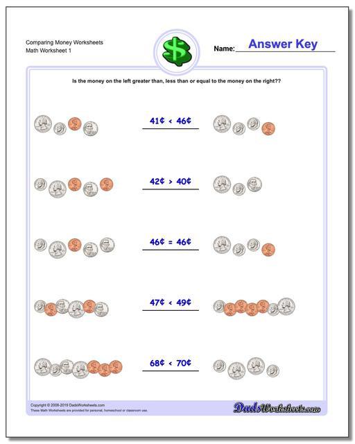 Money Worksheets for 3rd Grade Money