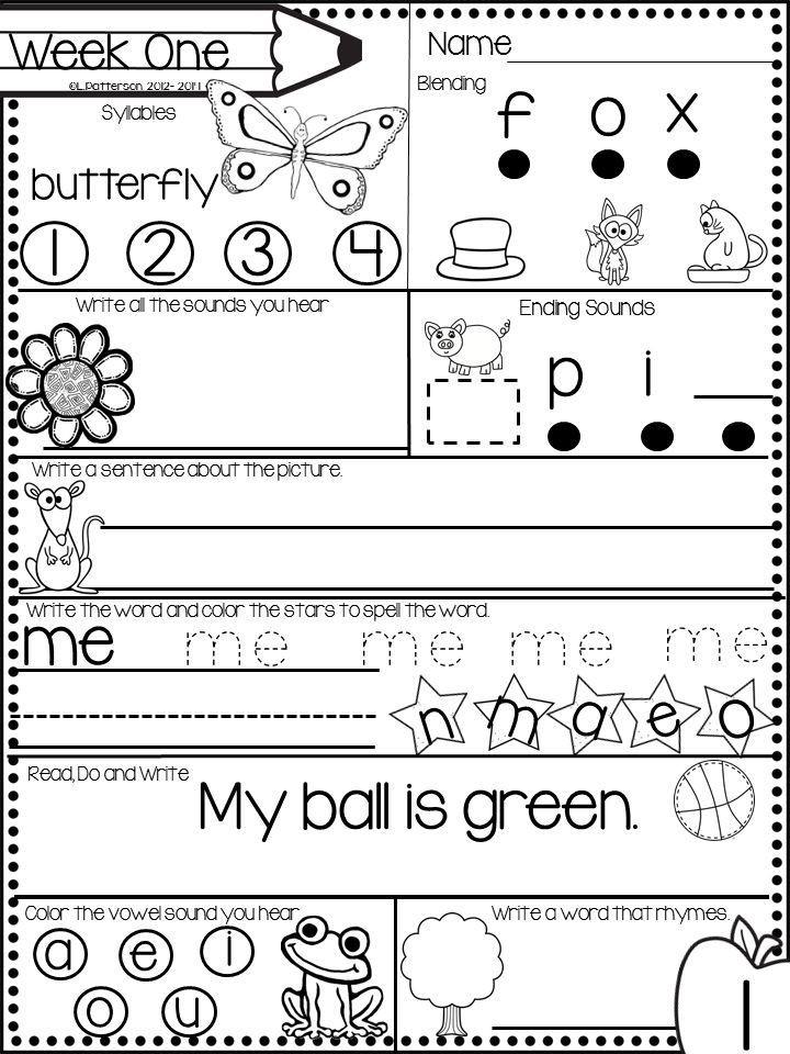 Morning Worksheets for Kindergarten December Morning Bright Kindergarten Literacy Morning Work
