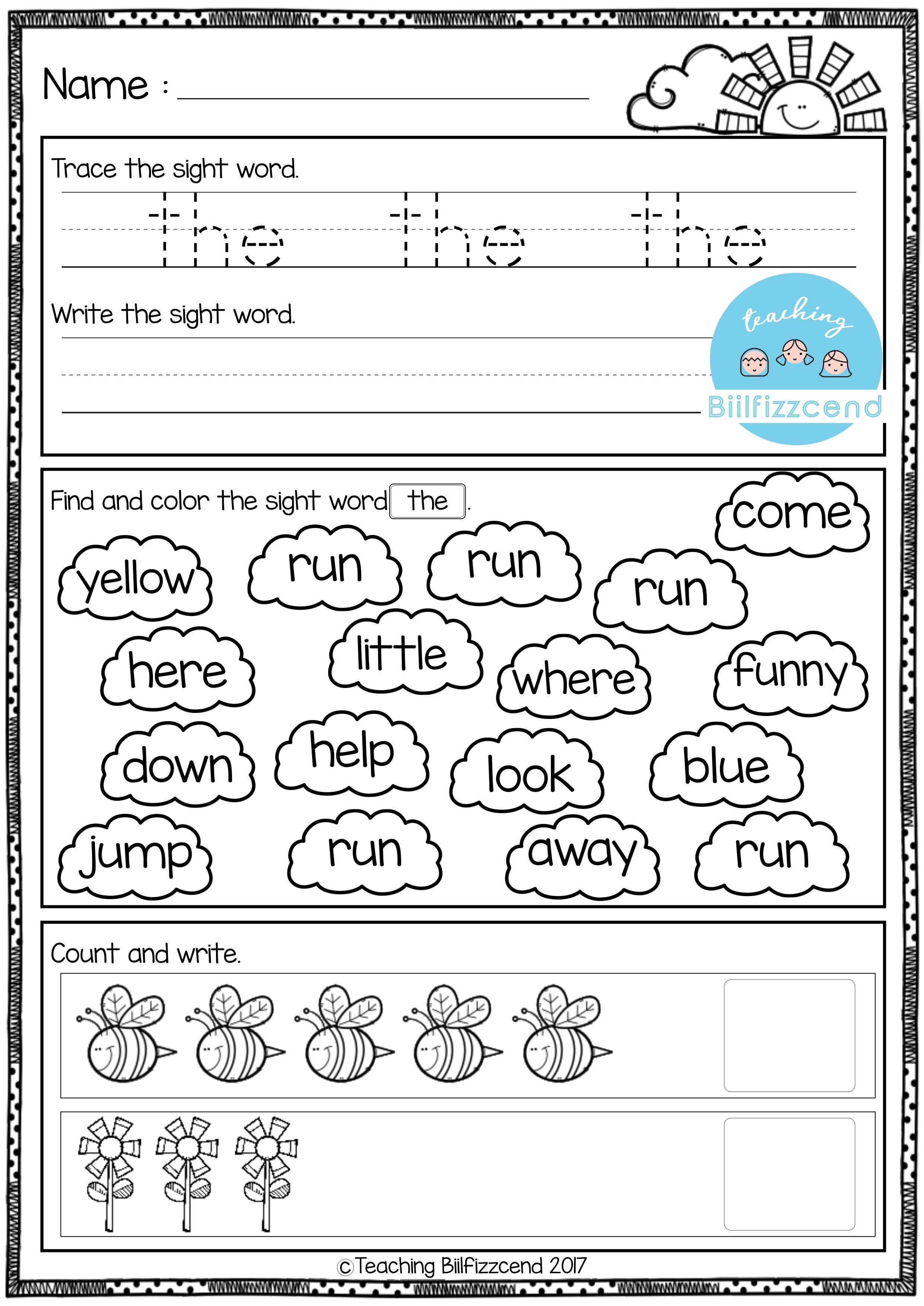 Morning Worksheets for Kindergarten Free Kindergarten Morning Work