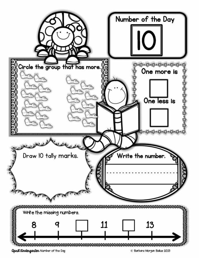 Morning Worksheets for Kindergarten Kindergarten Math Number the Sense Morning Work First