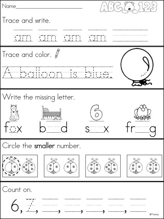 Morning Worksheets for Kindergarten Morning Worksheets for Kindergarten & Free Kindergarten