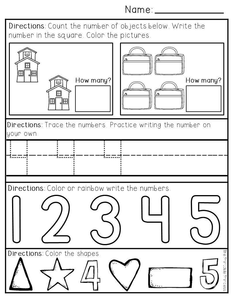 Morning Worksheets for Kindergarten Printable Morning Worksheets Preschool Kindergarten Morning