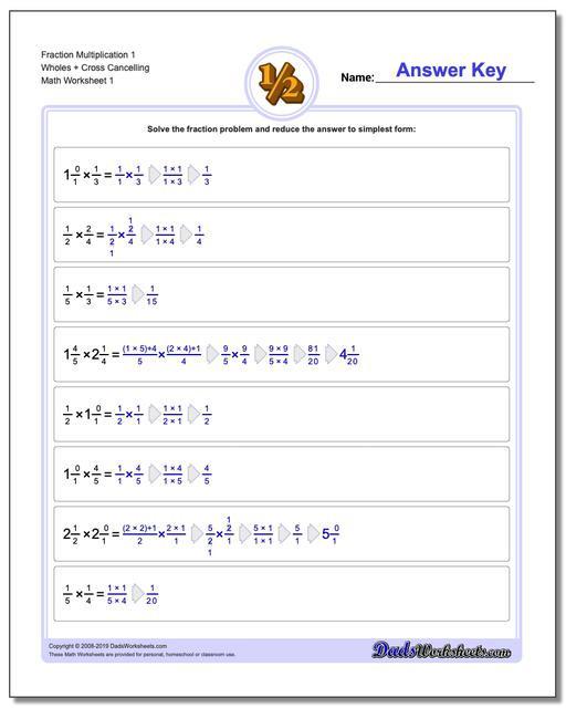 Multiplying Fractions Worksheet 6th Grade Fraction Multiplication