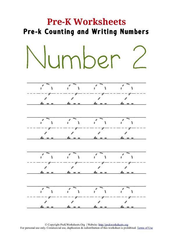 Number 2 Worksheets for Preschool Number 2 Worksheets for Kindergarten & ordinal Numbers 2