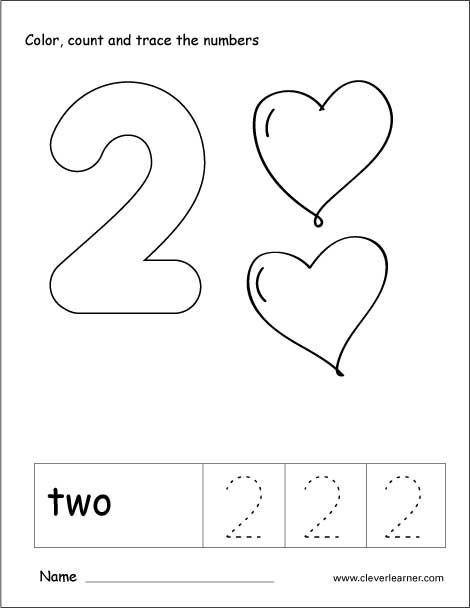 Number 2 Worksheets for Preschool Number 2 Worksheets for toddlers In 2020
