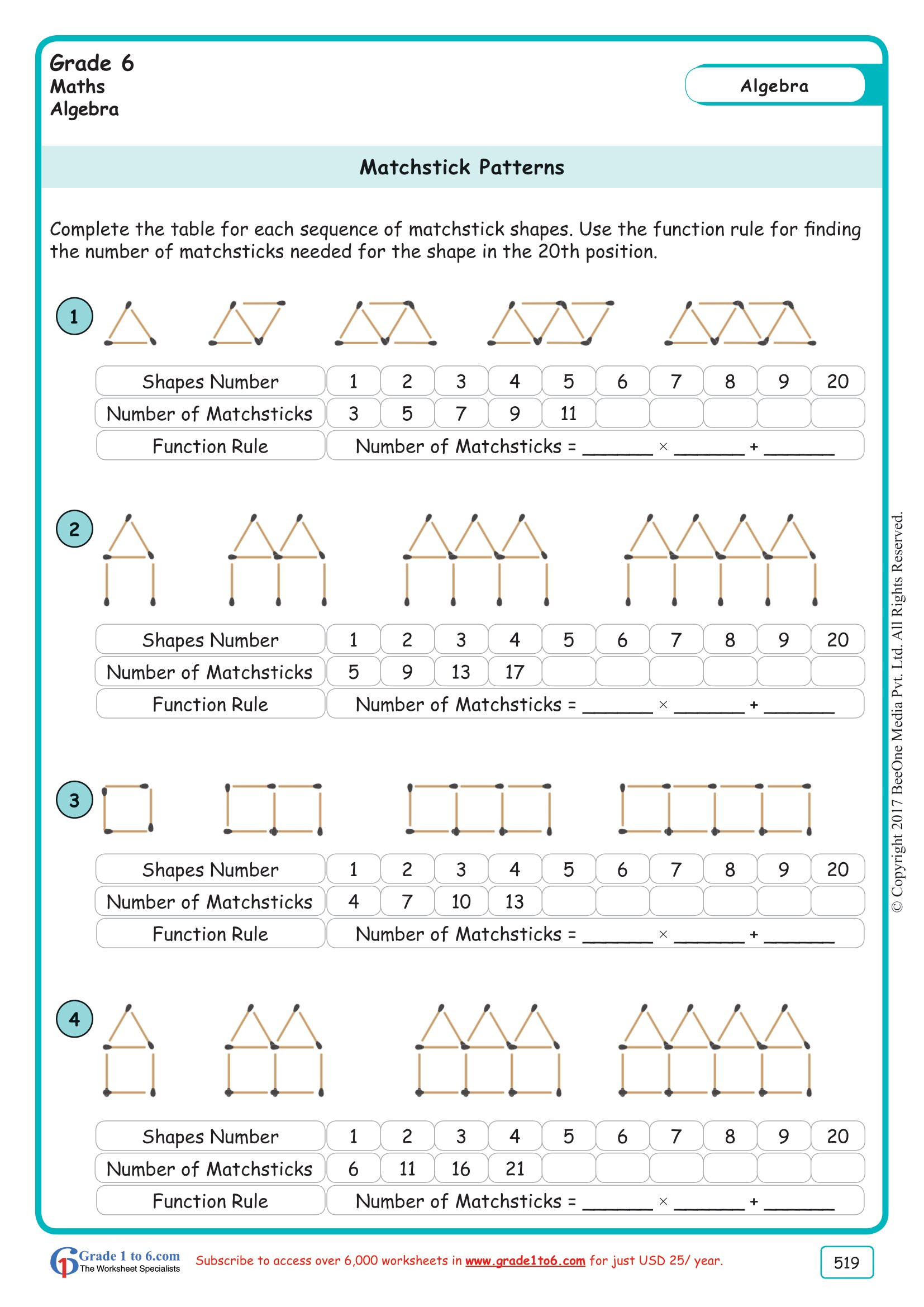 Number Patterns Worksheets Grade 6 Math Worksheet Multiplication Worksheet for Grade Cbse