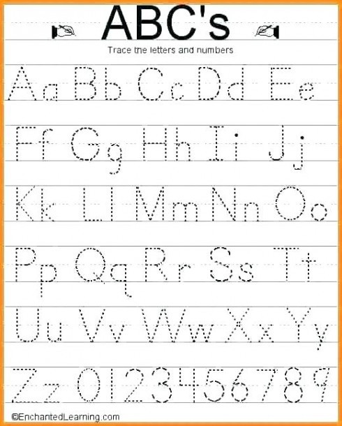Number Tracing Worksheets for Kindergarten Lowercase Tracing Worksheet Kindergarten Alphabet Worksheets
