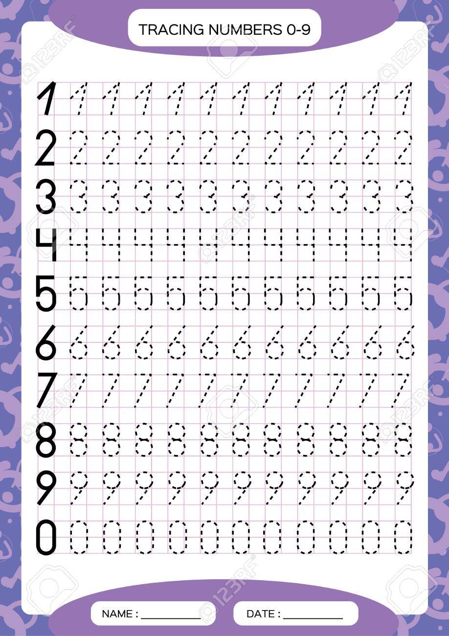 Number Tracing Worksheets for Kindergarten Numbers 0 9 Tracing Worksheet for Kids Preschool Worksheet