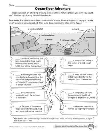 Ocean Floor Worksheets 5th Grade Ocean Floor Adventure Lesson Plans the Mailbox with