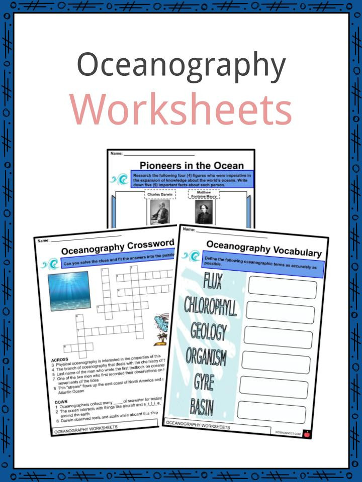 Ocean Floor Worksheets 5th Grade Oceanography Facts Worksheets History & Branches for Kids