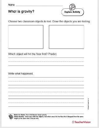 Ocean Floor Worksheets 5th Grade What is Gravity Printable 2nd Grade Teachervision