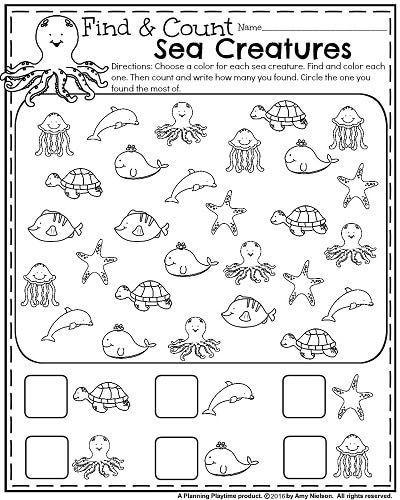 Ocean Worksheets for Preschool Summer Kindergarten Worksheets