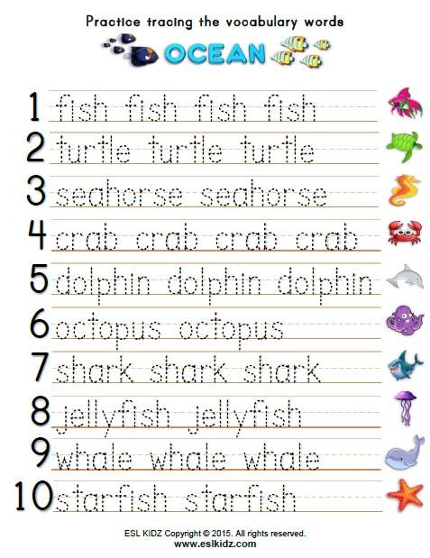 Oceans Worksheets for Kindergarten Ocean Activities Games and Worksheets for Kids