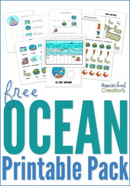 Oceans Worksheets for Kindergarten Ocean Preschool Pack Free Preschool Printables