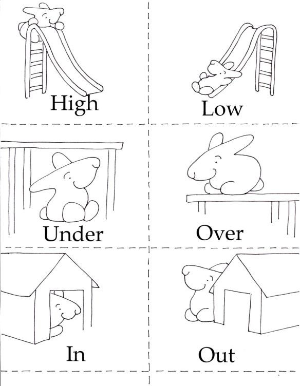 Opposites Worksheet for Preschool 3 In 1 Printables