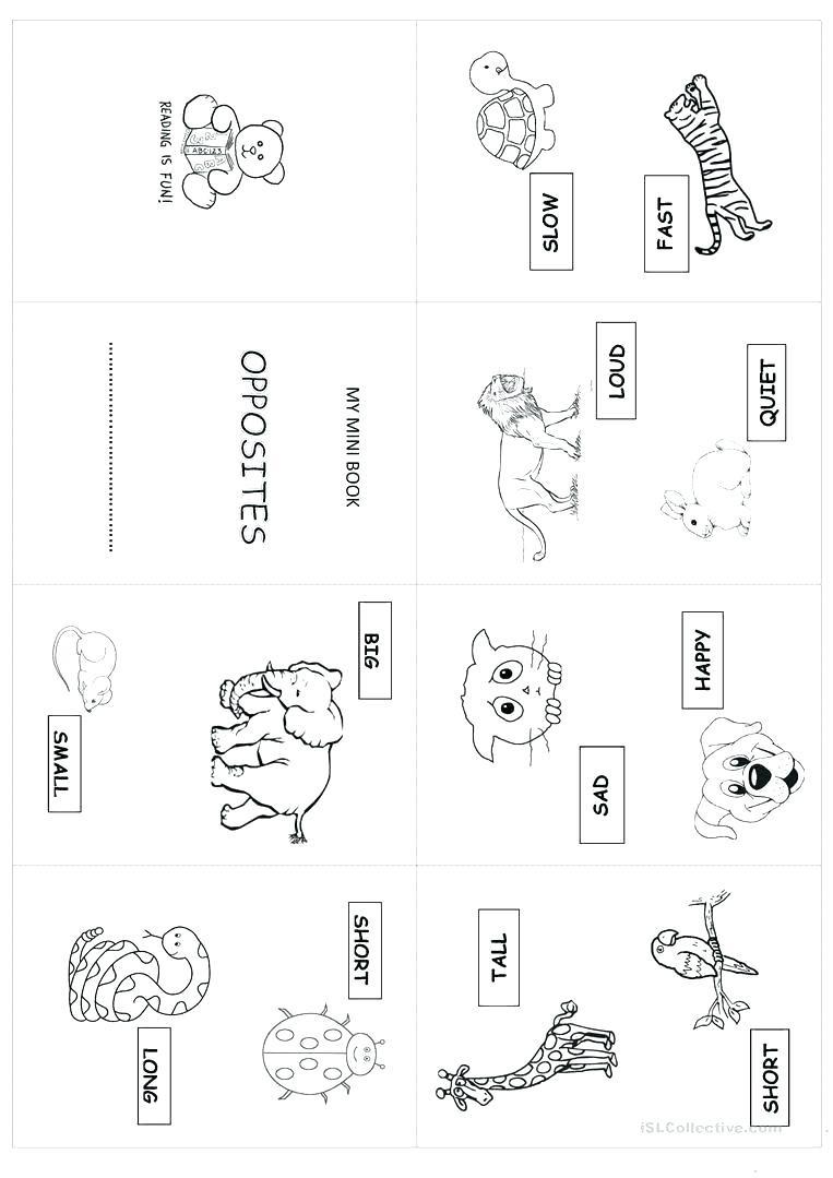 Opposites Worksheet for Preschool Free Printable Opposites Worksheets for Preschoolers