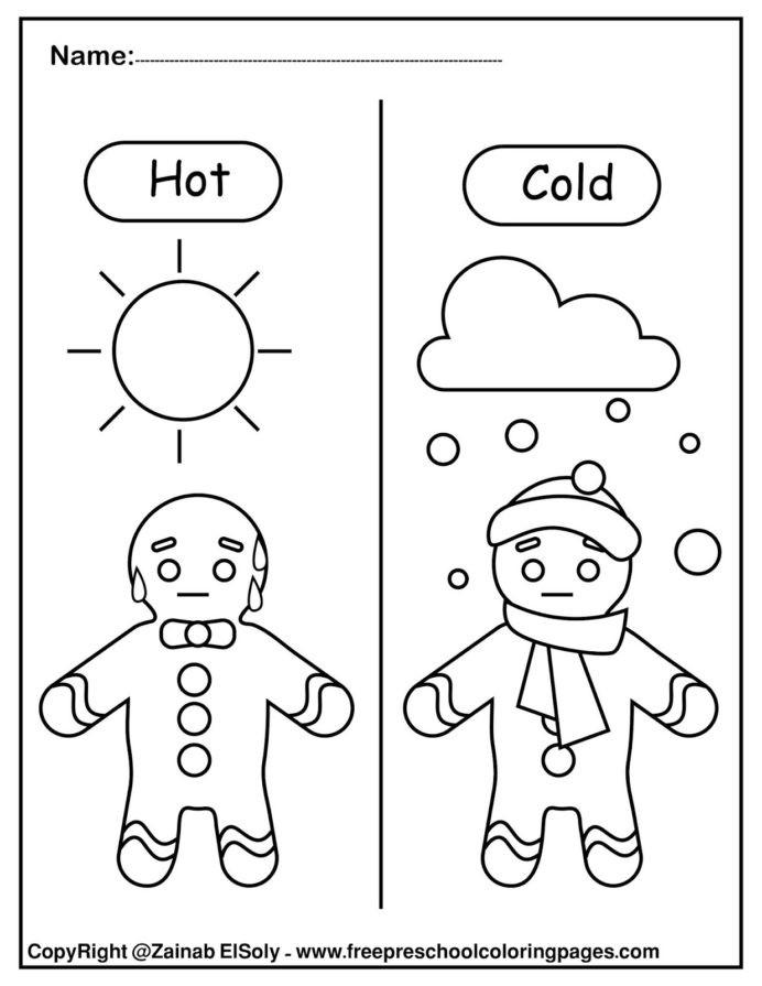Opposites Worksheet for Preschool Set Gingerbread Man Opposites for Kids Washing Worksheets