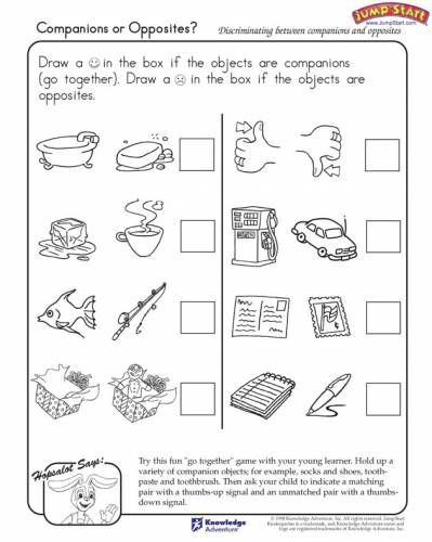 Opposites Worksheet Kindergarten Opposites Worksheets for Kindergarten