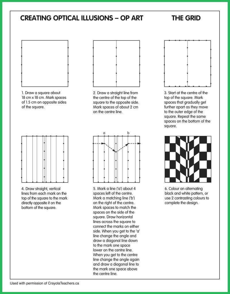 Optical Illusion Worksheets Printable Optical Illusions Grid Optical Illusions Grid Grid