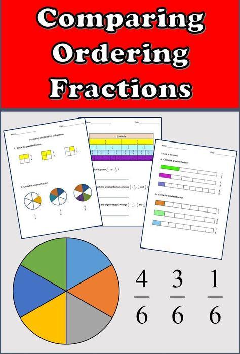 Ordering Fractions Worksheet 4th Grade Fractions Worksheets 3rd Grade 4th Grade Paring and