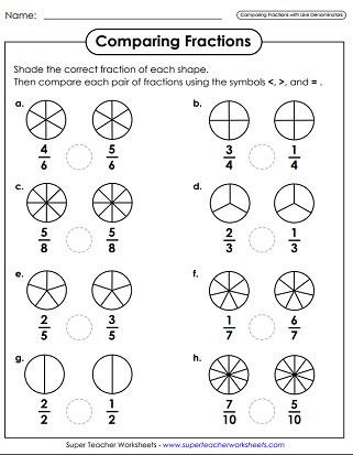 Ordering Fractions Worksheet 4th Grade Paring & ordering Fractions Worksheets