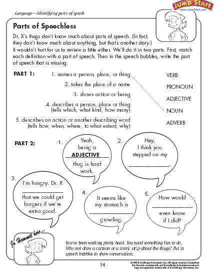 Parts Of Speech Printable Worksheets Parts Of Speech Worksheet Download