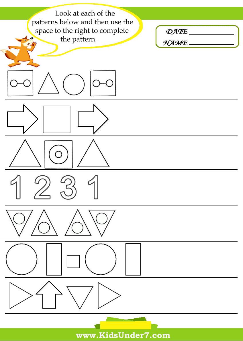 Pattern Worksheets 4th Grade Worksheet Christmas Activity Ideas for Children