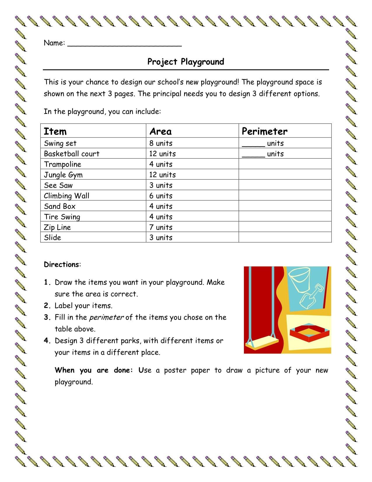 Perimeter Worksheet for 3rd Grade Email You Three 3rd Grade area and Perimeter Worksheets by
