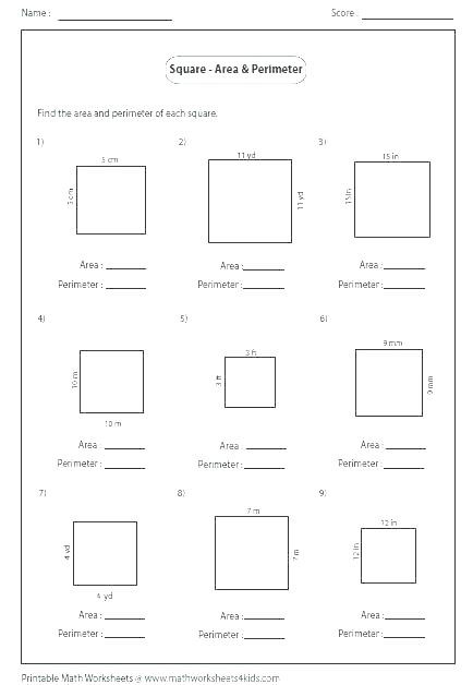 Perimeter Worksheet for 3rd Grade Free Perimeter Worksheets Free Worksheets Perimeter and