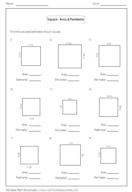 Perimeter Worksheet for 3rd Grade Free Perimeter Worksheets Free Worksheets Perimeter and