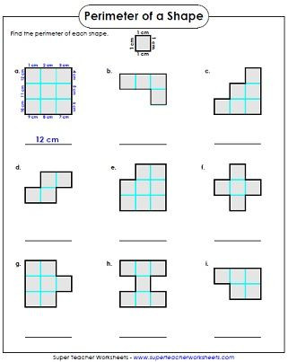 Perimeter Worksheet for 3rd Grade Perimeter Worksheet 3rd Grade
