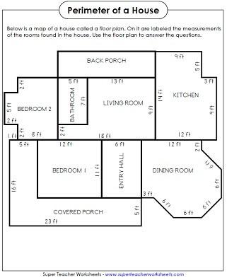 Perimeter Worksheet for 3rd Grade Perimeter Worksheets