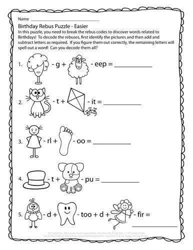 Pictogram Puzzles Printable Perplexing Puzzles 1 28 15