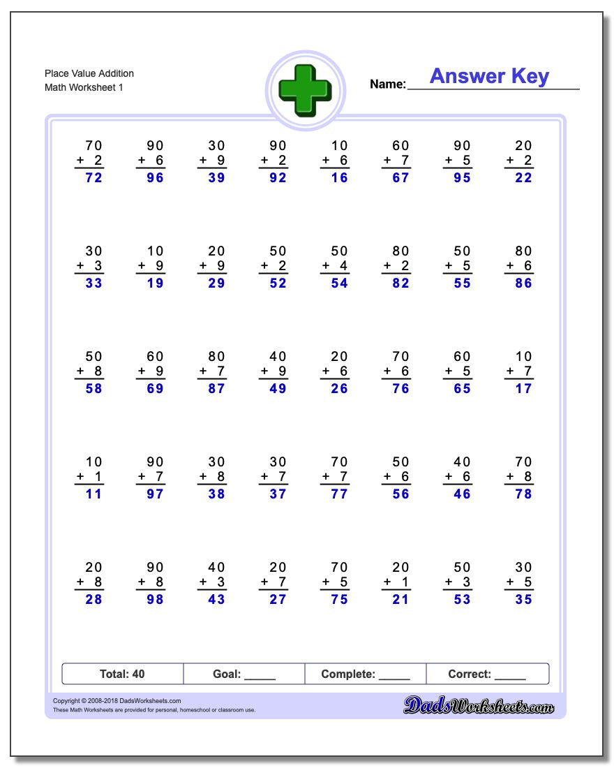 Place Value Worksheet 3rd Grade Place Value Addition Worksheets