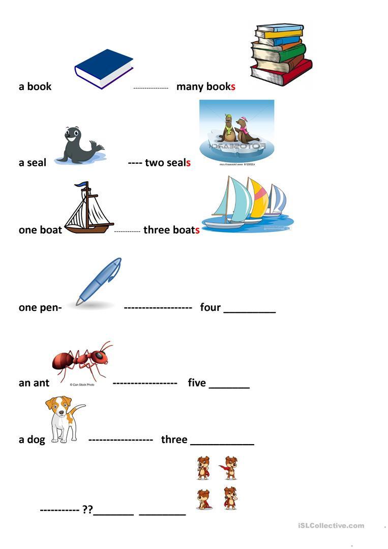 Plurals Worksheet 3rd Grade Plurals for Kids English Esl Worksheets for Distance