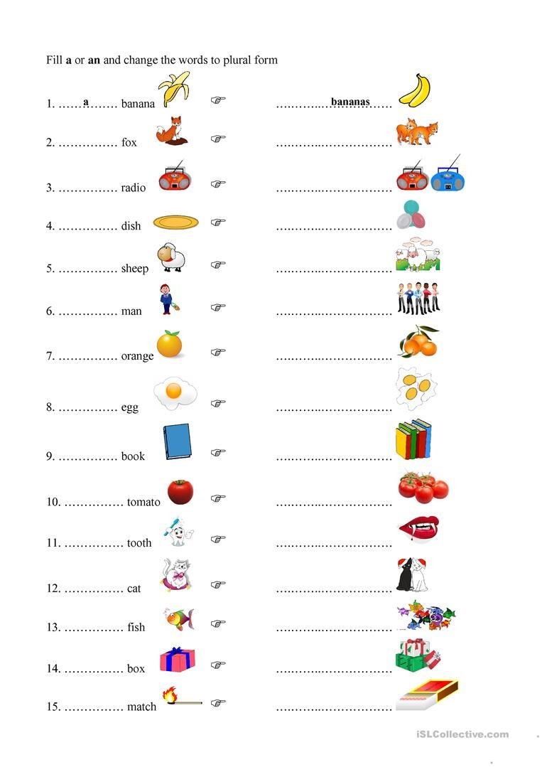 Plurals Worksheet 3rd Grade Plurals
