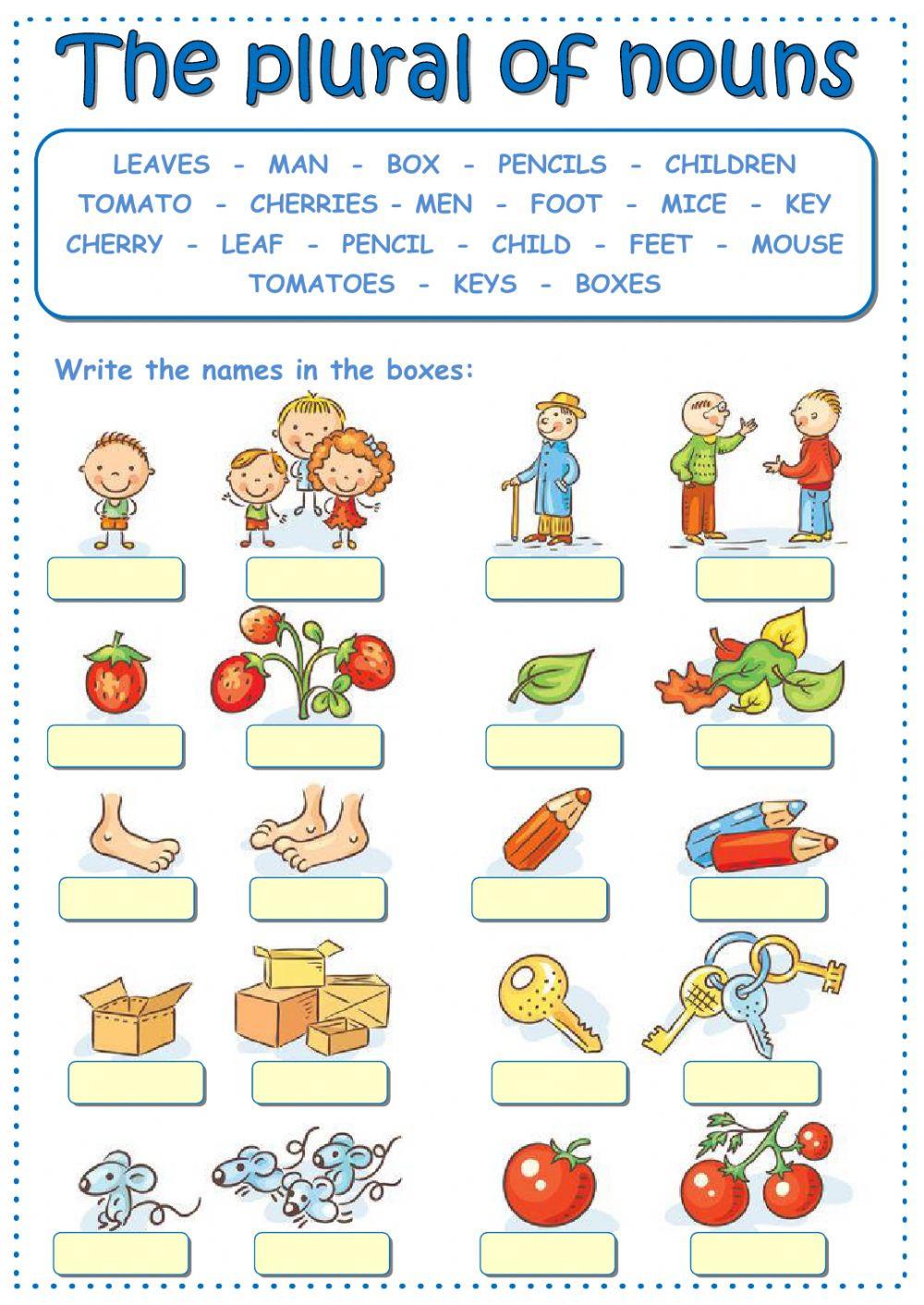 Plurals Worksheet 3rd Grade the Plural Of Nouns Interactive Worksheet