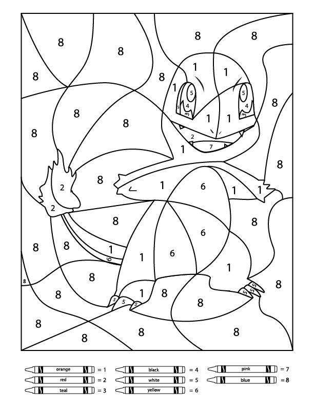 Pokemon Math Worksheets Printable 3 Free Pokemon Color by Number Printable Worksheets