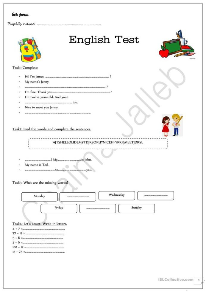 Pokemon Math Worksheets Printable Evaluation Test for Beginners English Esl Worksheets