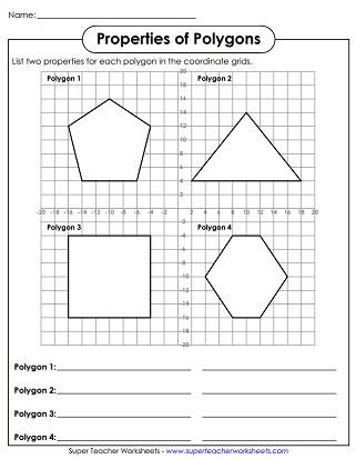 Polygon Worksheets 2nd Grade Polygon Worksheets