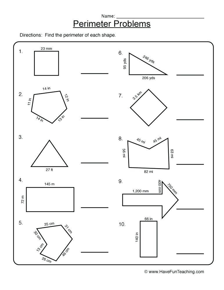 Polygon Worksheets 5th Grade Perimeter Worksheets Year 5 – Goodaction