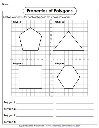 Polygon Worksheets 5th Grade Polygon Worksheets