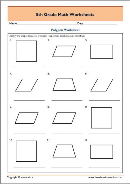 Polygons Worksheets 5th Grade 5th Grade Geometry Math Worksheets – Best Worksheets Collection