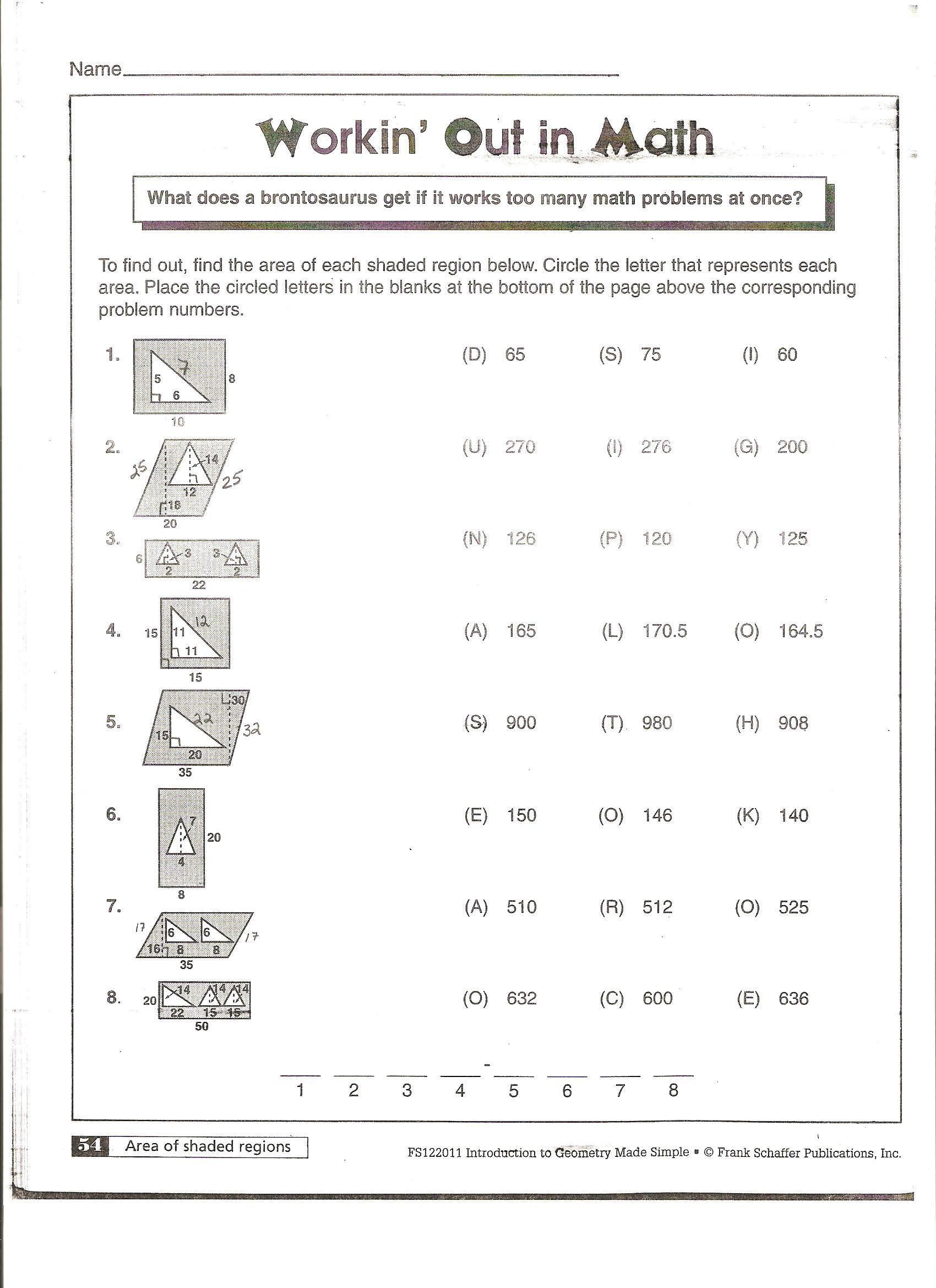 Polygons Worksheets 5th Grade area Of Polygons Worksheets Free